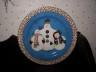Debbie Mumm Snowman Plate Designed with 3 Adorable Snowmen with Hats, Scarves and Mittens!