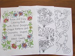 Relax & Enjoy Coloring Book 30 Pages of Floral Designs, Unique Patterns, Geometric Shapes
