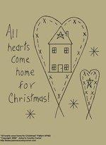 "Primitive Stitchery E-Pattern, ""All hearts come home for Christmas!"""
