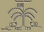 "Primitive Stitchery Pattern-Prim ""Americana Sampler ABC 123!"""