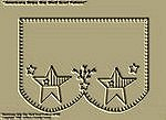 "Primitive Stitchery Pattern ""Americana Stripe Star!"" Shelf Scarf Pattern!"