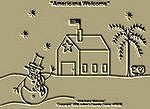"Primitive Stitchery Pattern-Prim ""Americana Welcome!"""