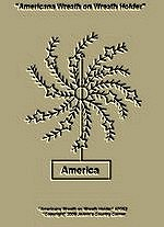 "Primitive Stitchery Pattern, Prim ""Americana Wreath on Wreath Holder!"""