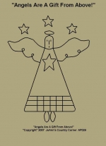 """Primitive Stitchery  Pattern """"Angels Are A Gift From Above!"""""""