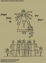 "Primitive Stitchery Pattern, ""Angel Stars 5 Cents Per Star!"