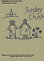 """Primitive Stitchery Pattern Prim """"Raggedy Anne and Andy Sunday Church Towels by the Day!"""" Pattern"""