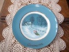 """Vintage Avon 1976 """"Bringing Home The Tree!"""" Plate by Enoch Wedgwood!"""