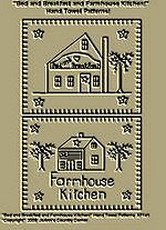 "Primitive Stitchery Patterns, ""Bed and Breakfast and Farmhouse Kitchen!"" Hand Towel Patterns!"
