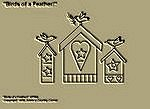 "Primitive Stitchery Pattern, Prim ""Birds of a Feather!"""