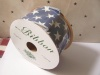 10 Yards of Country Blue Star Americana Wire Edge Ribbon!