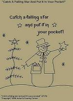 "Primitive Stitchery Pattern, ""Catch a falling star and put it in your pocket!"""