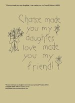 "Primitive Stitchery Pattern, ""Chance made you my daughter, love made you my friend!"""