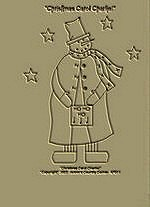"Primitive Stitchery E-Pattern ""Christmas Carol Snowman!"""