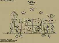 "Primitive Stitchery Pattern, ""Fall Time Quilts!"""