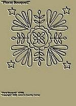"""Primitive Stitchery Pattern, Prim """"Floral Bouquet!"""""""