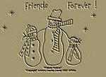 "Primitive Stitchery Pattern "" Friends Forever!"""