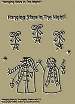 "Primitive Stitchery Pattern ""Hanging Stars In The Night!"""