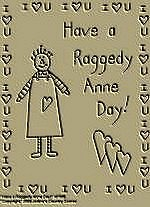 "Primitive Stitchery Pattern Primitive "" Have a Raggedy Anne Day!"""