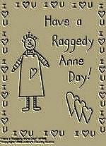 "Primitive Stitchery Pattern Primitive "" Have a Raggedy Anne Day!"""