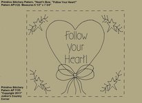 "Primitive Stitchery e-Pattern, Heart'n Stars ""Follow your Heart!"""