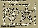 "Primitive Stitchery Pattern ""Heart'n Sheep & USA Star Towel Patterns/ Quilt Applique Patterns!"""