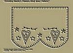 "Primitive Stitchery Pattern ""Primitive Heart'n Flowers Shelf Scarf Pattern!"""