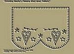 "Primitive Stitchery Pattern ""Primitive Heart'n Flowers Shelf Scarf Pattern!"""