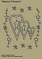 "Primitive Stitchery Pattern Primitive ""Hearts'n Flowers!"""