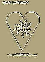 "Primitive Stitchery  Pattern- ""Country Heart'n Wreath""!"