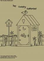 "Primitive Stitchery Pattern, ""Her Country Outhouse!"""