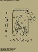 "Primitive Stitchery E-Pattern, ""I love Snowmen Canning Jar with Primitive Tag!"" E-Pattern"