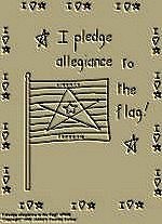 "Primitive Stitchery Pattern Primitive ""I pledge allegiance to the flag!"""