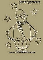 "Primitive Stitchery  Pattern - ""Stars'n Joy Snowman"" !"