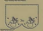 "Primitive Stitchery Pattern ""Joyful Snowman!"" Shelf Scarf Pattern!"""