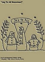 "Primitive Stitchery Pattern, ""Joy To All Snowmen!"""
