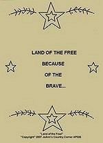 "Primitive Stitchery Pattern""Land Of the Free"""