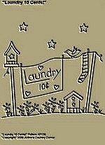 "Primitive Stitchery Pattern, ""Laundry 10 Cents!"""