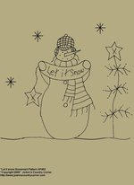 "Primitive Stitchery Pattern, ""Snowman, Let it Snow!"""