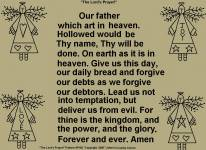"Primitive Stitchery Pattern, ""Lord's Prayer!"""