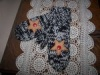 Primitive 2 Needle Knitted  Mittens with Star Appliques, Buttons Design Pattern!