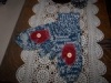 Primitive 2 Needle Knitted Mittens with Mitten Appliques, Buttons Design Pattern!