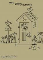 "Primitive Stitchery Pattern, ""Olde Country Outhouse!"""
