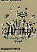 """Primitive Stitchery Pattern """" Olde Thyme Victory Garden!"""""""