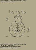 """Primitive Stitchery e-Pattern, """"Rollie Pollie Santa, Ho Ho Ho!"""""""