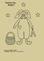 "Primitive Stitchery E-Pattern, ""Sammy the Rabbit!"""