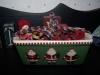 Santa Baking Dish Filled With Potpourri and Homespun!