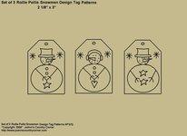 "Primitive Stitchery Pattern, ""Rollie Pollie Snowmen Tags!"" Patterns"