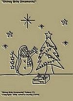 "Primitive Stitchery Pattern, ""Shiney Brite Ornaments!"""