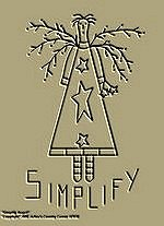 "Primitive Stitchery Pattern-Prim ""Simplify Angel!"""