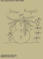 "Primitive Stitchery E-Pattern, ""Snow Angel!"""